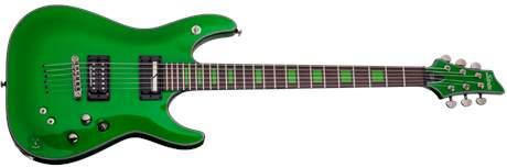 SCHECTER Kenny Hickey Green Elektrická barytonová kytara