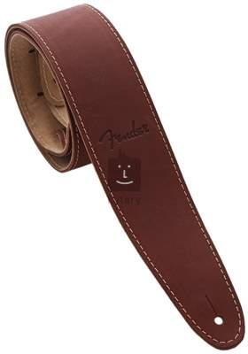 FENDER Ball Glove Leather Strap, Brown Kytarový popruh