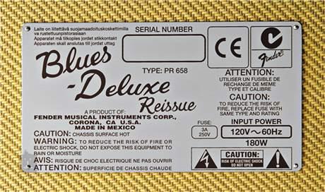 FENDER Reissue Blues Deluxe Kytarové lampové kombo