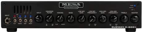 MESA BOOGIE Subway D-800+ Baskytarový tranzistorový zesilovač