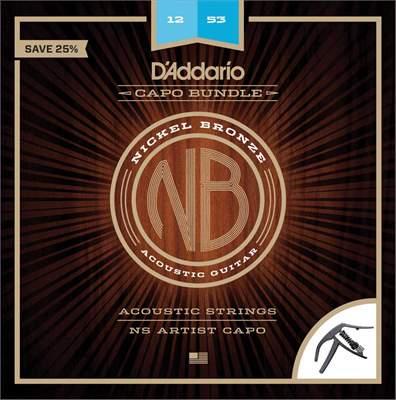 D'ADDARIO NB1253-CP10 Kovové struny pro akustickou kytaru