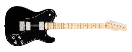 FENDER American Pro Telecaster DLX Shawbuckers MN BLK (rozbalené) Elektrická kytara