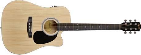 FENDER SQUIER SA-105CE, Dreadnought Cutaway, Natural Elektroakustická kytara