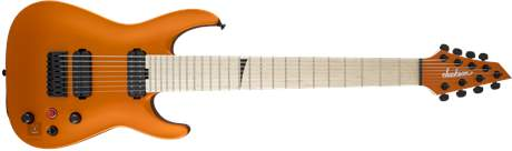 JACKSON Pro Dinky Arch Top8M - Satin Orange Blaze Elektrická osmistrunná kytara