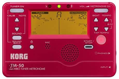 KORG TM-50 RD Ladička s metronomem