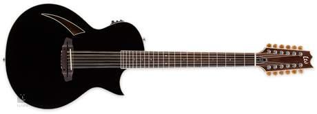 ESP LTD TL-12 BLK Dvanáctistrunná elektroakustická kytara