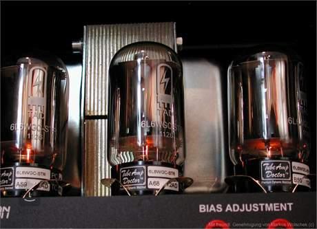 TUBE AMP DOCTOR 6L6WGC-STR GE-Style black-plate TAD PREMIUM Matched Elektronka