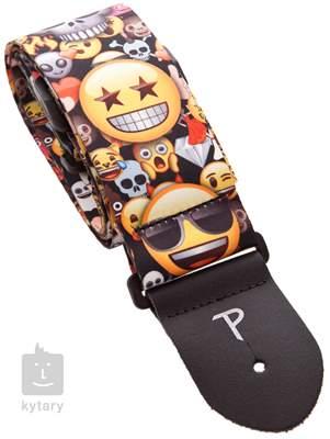 PERRI'S LEATHERS 8218 Emoji Skulls And Friends Kytarový popruh