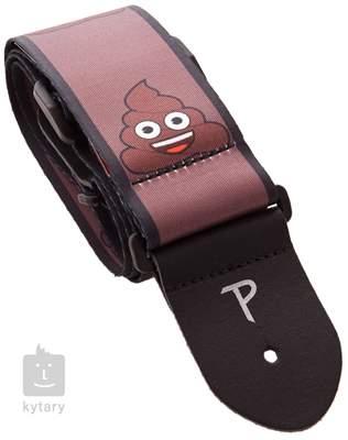 PERRI'S LEATHERS 8210 Emoji Poo Kytarový popruh