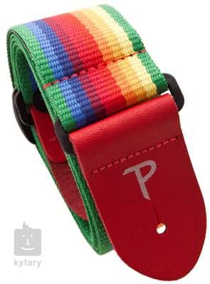 PERRI'S LEATHERS 6846 Cotton Rainbow Kytarový popruh