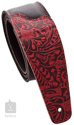 PERRI'S LEATHERS 6881 The Luxury Collection Red Kytarový popruh
