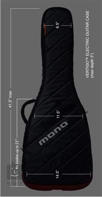 MONO Vertigo Electric Grey (rozbalené) Obal pro elektrickou kytaru