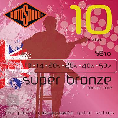 ROTOSOUND SB10 Kovové struny pro akustickou kytaru