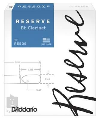 D'ADDARIO Rico Reserve Bb Clarinet - 10 - 4.5 Klarinetové plátky