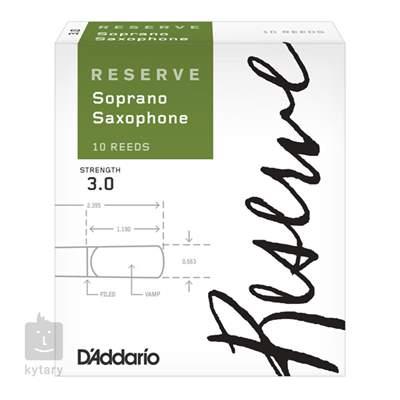 D'ADDARIO Rico Reserve Soprano Sax - 10 - 3,0+ Saxofonové plátky
