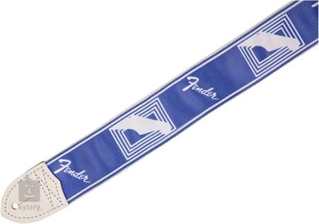 FENDER Monogramm Strap - Lake Placid Blue Kytarový popruh