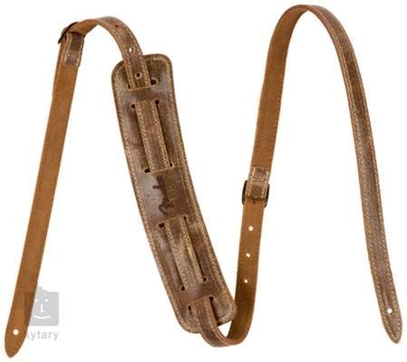 FENDER Fender Vintage-Style Distressed Leather Strap, Brown Kytarový popruh