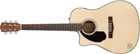 FENDER CD-60SCE LH NAT Levoruká elektroakustická kytara