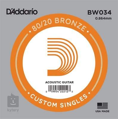 D'ADDARIO BW034 Kovová struna pro akustickou kytaru