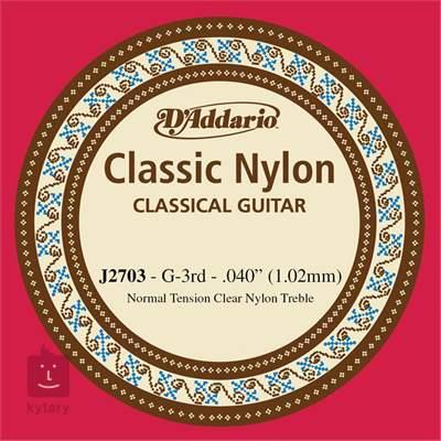 D'ADDARIO J2703 Nylonová struna pro klasickou kytaru