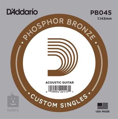 D'ADDARIO PB045 Kovová struna pro akustickou kytaru