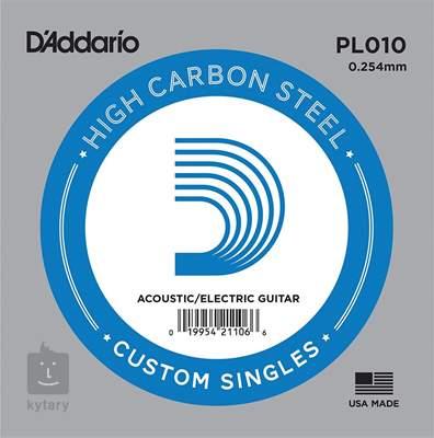 D'ADDARIO PL010 Struna pro elektrickou/akustickou kytaru