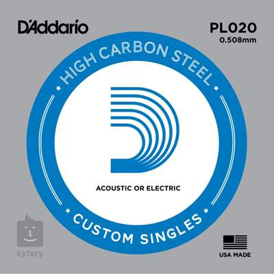 D'ADDARIO PL020 Struna pro elektrickou/akustickou kytaru