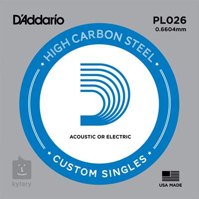 D'ADDARIO PL026 Struna pro elektrickou/akustickou kytaru