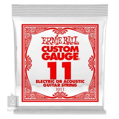 ERNIE BALL Plain Steel Single .011 Struna pro elektrickou/akustickou kytaru