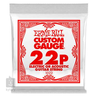 ERNIE BALL Plain Steel Single .022 Struna pro elektrickou/akustickou kytaru