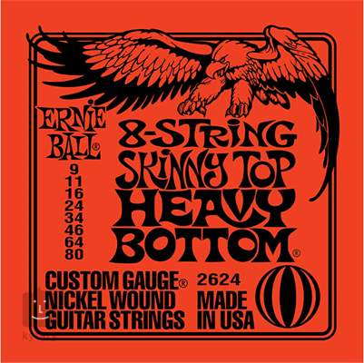 ERNIE BALL Nickel Wound 8-String Skinny Top Heavy Bottom Struny pro osmistrunnou kytaru