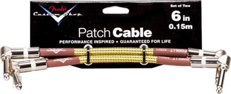 """FENDER Custom Shop Cable 6"""" Tweed Two-Pack Propojovací kabel"""