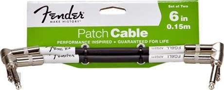 "FENDER Performance Series Instrument Cable 6"" Black Two-Pack Propojovací kabel"
