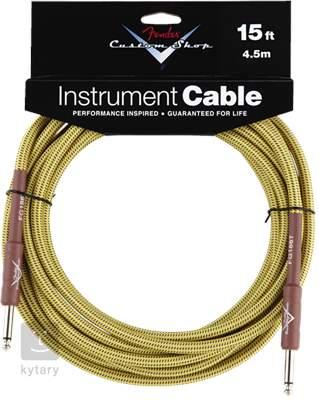 FENDER Custom Shop Cable 15' Tweed Nástrojový kabel