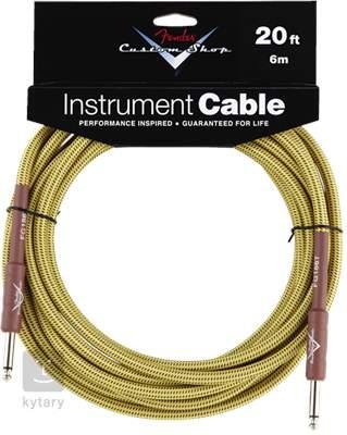 FENDER Custom Shop Cable 20' Tweed Nástrojový kabel