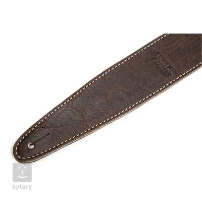 "FENDER Artisan Crafted Leather Strap 2"" Brown Kytarový popruh"