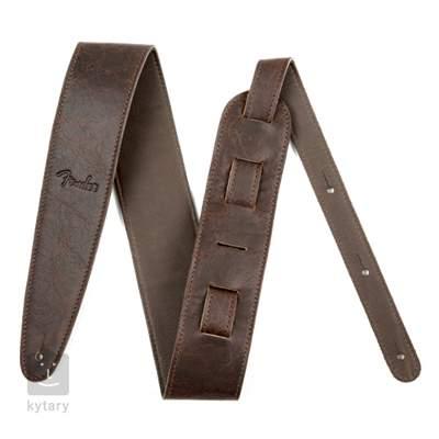 "FENDER Artisan Crafted Leather Strap 2.5"" Brown Kytarový popruh"