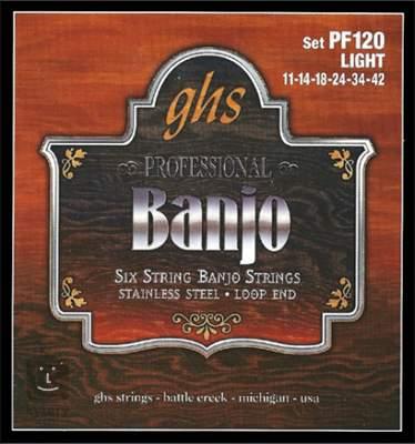 GHS PF120 Struny pro šestistrunné banjo
