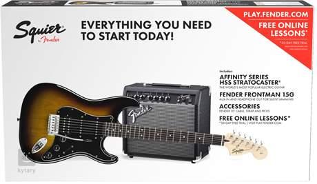 FENDER SQUIER Affinity Series Stratocaster HSS 15G BSB Kytarový komplet