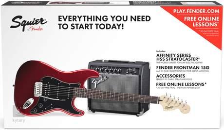 FENDER SQUIER Affinity Series Stratocaster HSS 15G CAR Kytarový komplet