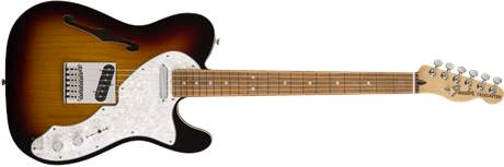 FENDER Deluxe Telecaster Thinline PF 3TSB Elektrická kytara