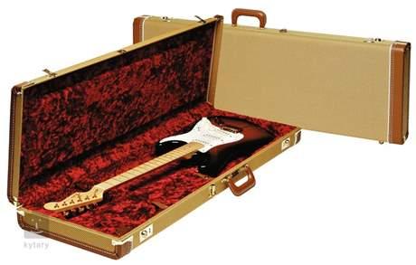 FENDER Deluxe Case, Tweed w/ Red Poodle Plush Interior Kufr pro elektrickou kytaru