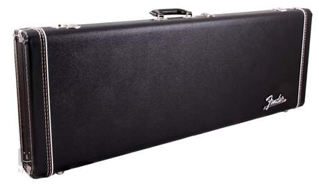 FENDER Deluxe Case, Black w/ Orange Plush Interior Kufr pro elektrickou kytaru
