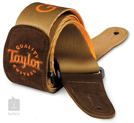 TAYLOR GS mini Guitar Strap, Brown Suede/Brown Kytarový popruh
