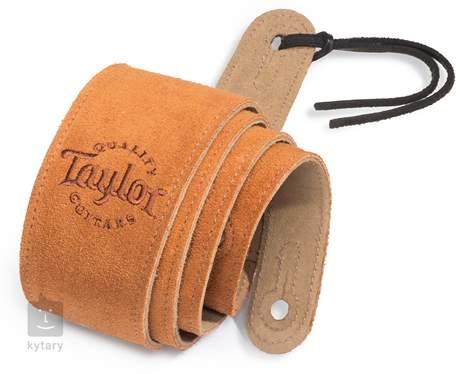 TAYLOR Honey Suede Logo Guitar Strap Kytarový popruh