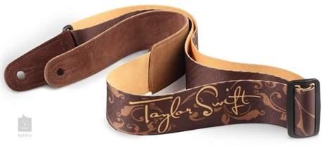 TAYLOR Taylor Swift Signature Guitar Strap, Brown Kytarový popruh