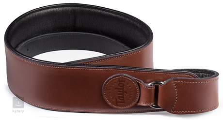 TAYLOR Badge Guitar Strap Brown Kytarový popruh