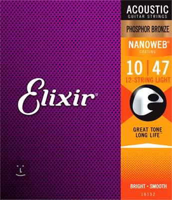 ELIXIR Nanoweb Phosphor Bronze 12-String Struny pro dvanáctistrunnou kytaru
