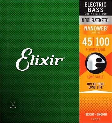 ELIXIR 14052 Light, Long Scale Struny pro baskytaru
