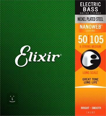 ELIXIR 14102 Medium, Long Scale Struny pro baskytaru